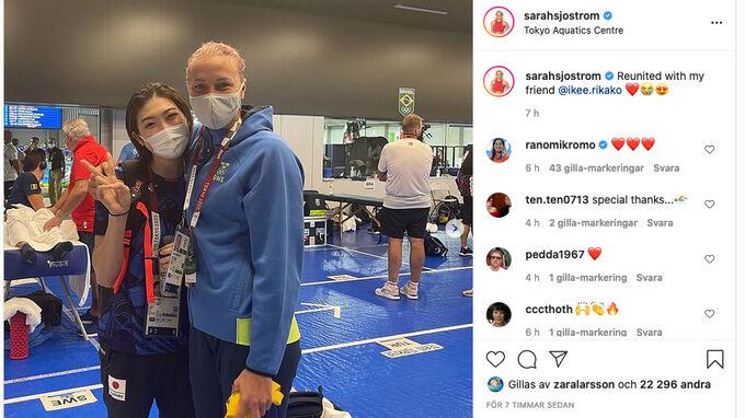 Blodcancer och armbågsbrott – här återförenas Sjöström och Ikee