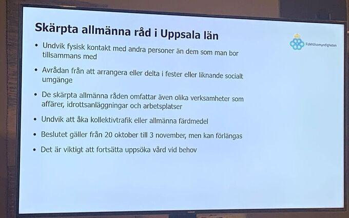 Nya Restriktioner For Uppsala Undvik Kollektivtrafiken Aftonbladet Live Supernytt
