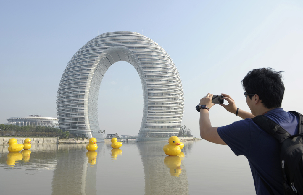 Kina Forbyr Rare Bygninger Kina Vg