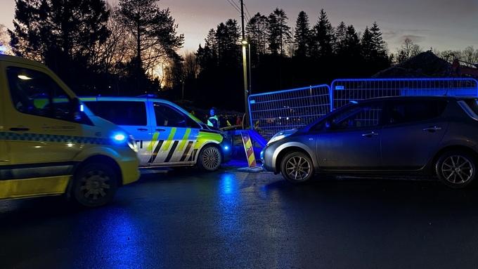 KØ: Kø i morgentrafikken på Hjellestad.