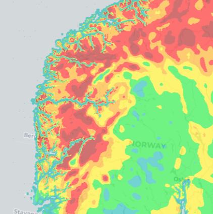 Slik er farenivået lørdag 7. august, ifølge skogbrannindeksen.