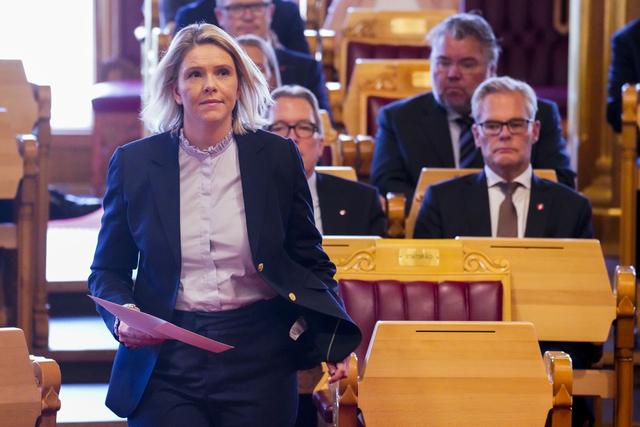 Sylvi Listhaug (Frp) under åpningen av Stortinget1. oktober. Foto: Ole Berg Rusten / NTB