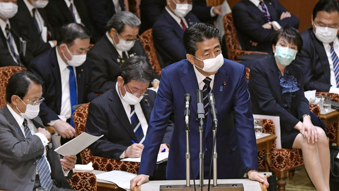 Den japanske statsministeren Shinzo Abe.