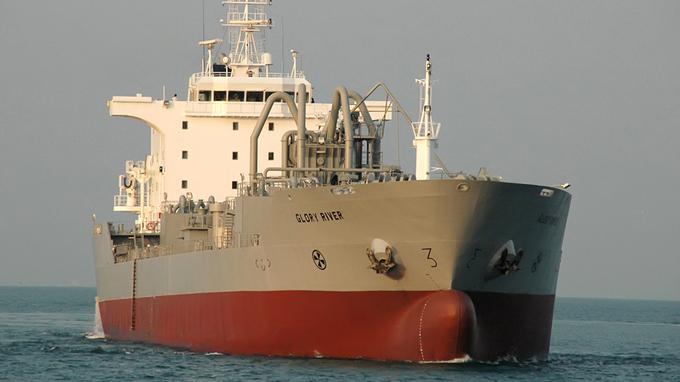 Et av KGJS sementskip som ikke lenger skal driftes av rederiet selv.