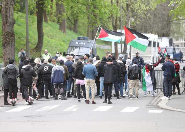 Demonstrasjon foran Israels ambassade