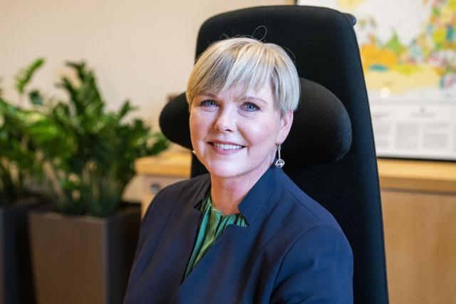 Utviklingsminister Anne Beathe Tvinnereim (Sp) drar til klimatoppmøtet i Glasgow. Foto: Håkon Mosvold Larsen / NTB