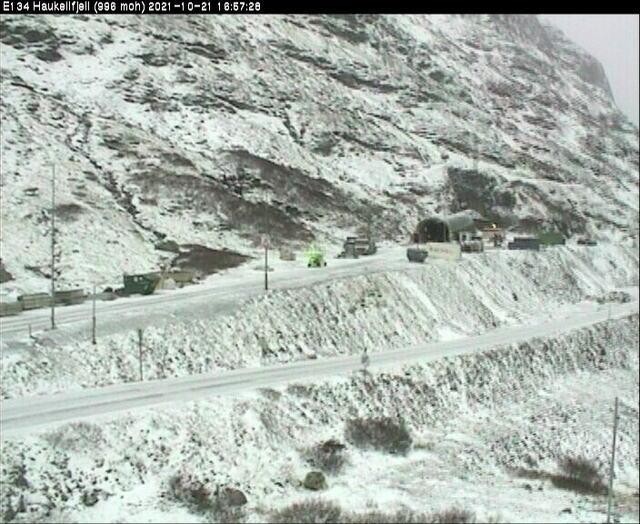 Snø på Haukelifjell. Foto: undefined / NTB