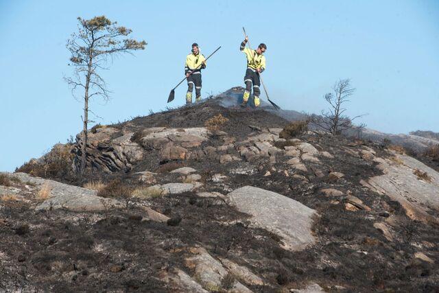 Dette bildet er fra brannslukkingen på onsdag.