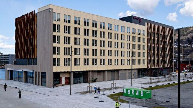 Hotellet Moxy Bergen, som nå åpner dørene.