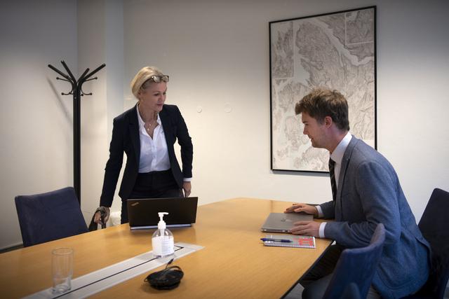 Styreleder i BTS Utvikling Inga Lise Moldestad møtte i dag finansbyråd Erlend Horn (V).