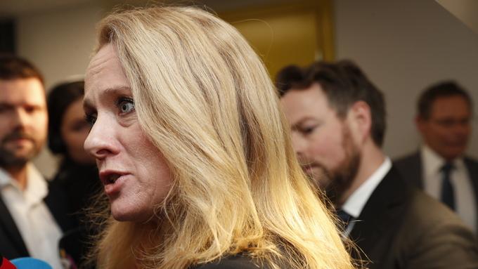 SELVVALGT: Avtroppende arbeids- og sosialminister Anniken Hauglie sier hun selv har valgt å gå av.