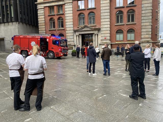 Vågsallmenningen ble benyttet som evakueringsplass.