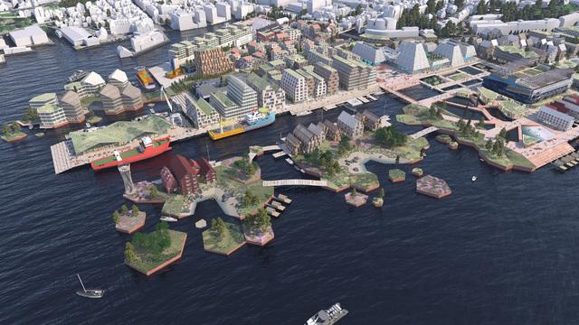 Slik ser forslaget for utviklingen av Dokken ut.