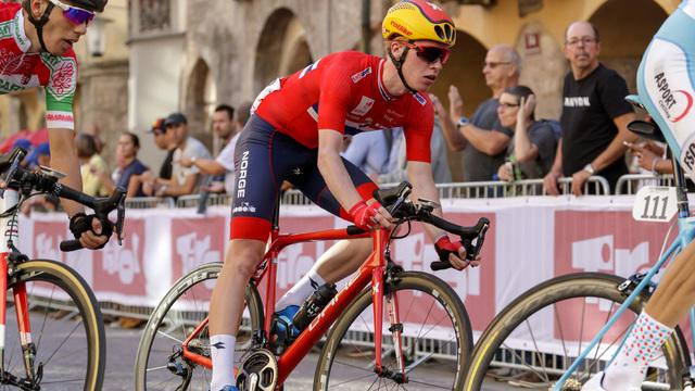 VISTE SEG FRAM:  Dette bildet av Andreas Rikardsen Leknessund er fra sykkel-VM i 2018.