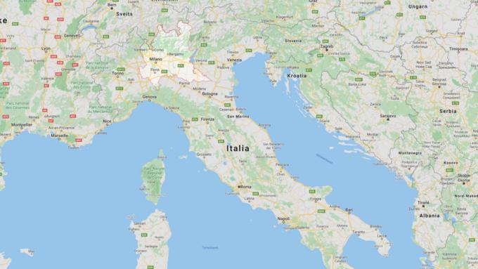Lombardia-regionen ligger nord i landet.