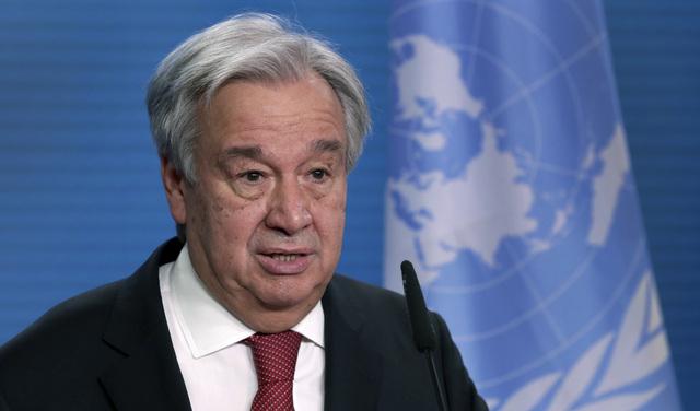 António Guterres sier det må kraftig lut til dersom det skal være mulig å nå målet om å begrense den globale oppvarmingen til 1,5 grader sammenlignet med førindustrielt nivå.