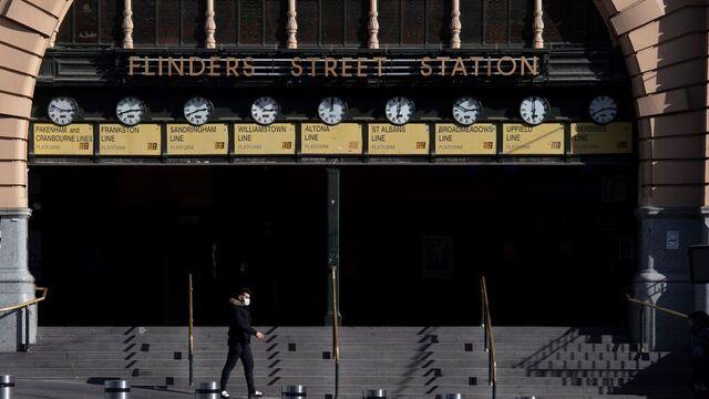 En øde og forlatt togstasjon i Melbourne.