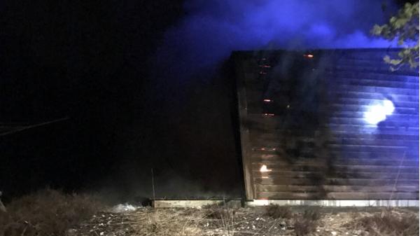 En mann ble pågrepet etter denne brannen natt til tirsdag.