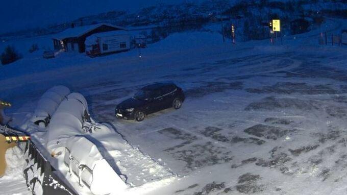 HAUGASTØL: Webkameraet viser Haugastøl lørdag morgen.