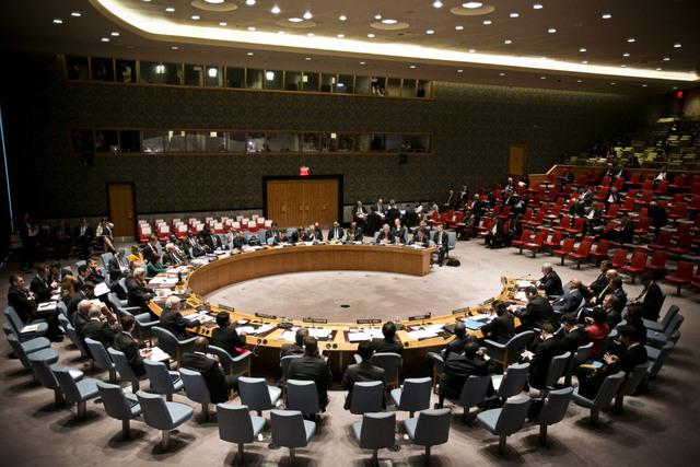 FNs sikkerhetsråds viktigste oppgave er å sikre fred og sikkerhet i verden. De faste landene har vetorett, og dermed kan ett land alene stoppe et viktig forslag. Foto: Pontus Höök / NTB