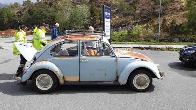 Denne 1967 VW Boble ble vinket inn og undersøkt, men var i tipp-topp-stand, rusten til tross.