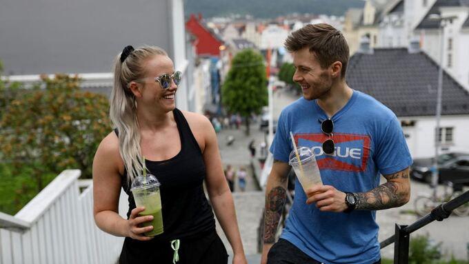 TRENINGSVÆR: Tonje Olsen og Jan Erik Bøyum skal ta en treningstur i varmen.