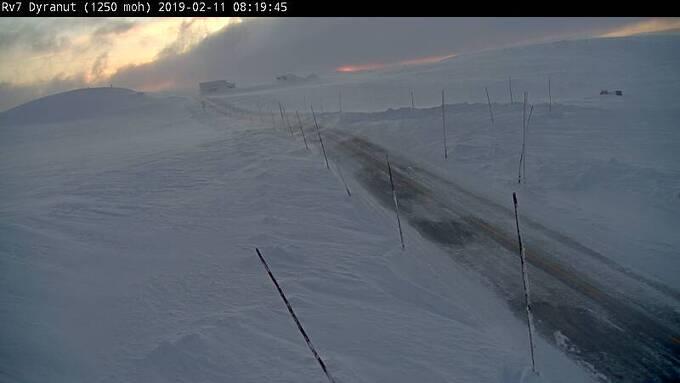 VIND: Det blåser godt på fjellet i morgentimene.