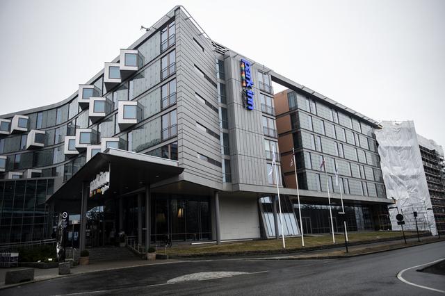 Park Inn by Radisson Oslo Airport er et av hotellene ved Gardermoen som er blitt brukt som karantenehotell. Foto: Annika Byrde / NTB