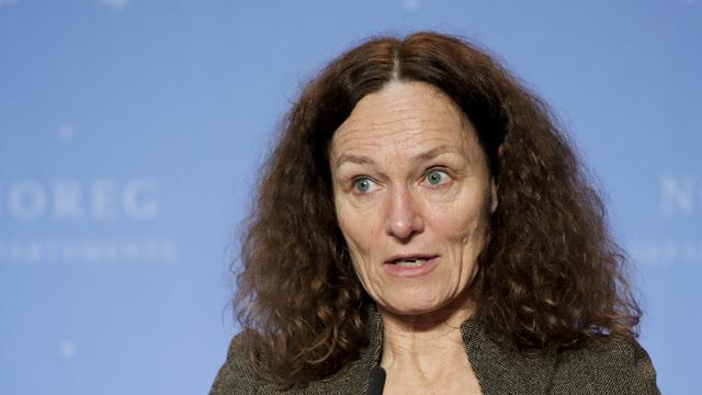 Direktør ved Folkehelseinstituttet, Camilla Stoltenberg, under en pressekonferanse om koronasituasjonen. Foto: Vidar Ruud / NTB