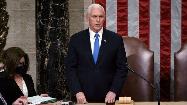 Pence bekreftet det endelige valgresultatet i Kongressen 10. januar.