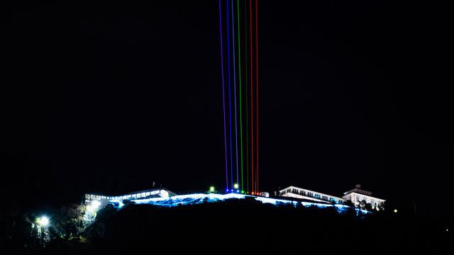 Bergen Lights markerte åpningen av byens 950-årsjubileum i januar 2020.