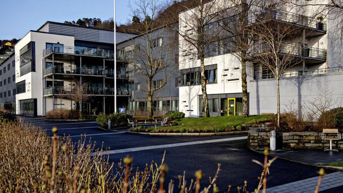 Her er den nye avdelingen for koronasmittede ved Fyllingsdalen sykehjem.