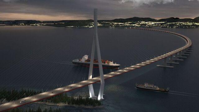 For å spare penger, utslipp og gi bedre oppdrift, vurderer man å bruke stål i pongtongene til flytebroen.