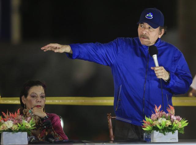 President Daniel Ortega avbildet i mars 2019.
