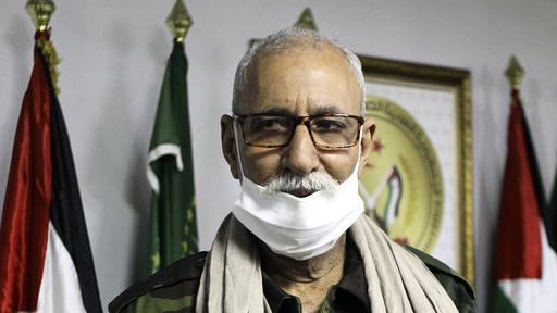 Polisario-leder Brahim Ghali i en flyktningleir i Algerie i februar i år.