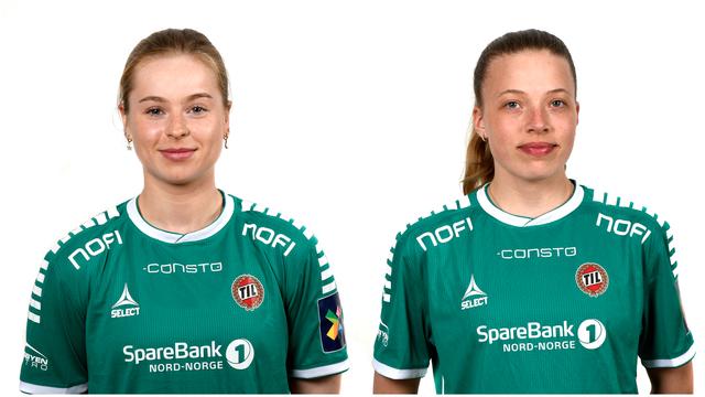 SCORET: Synne Helen Kvernberg (til venstre) og Emma Granlind.