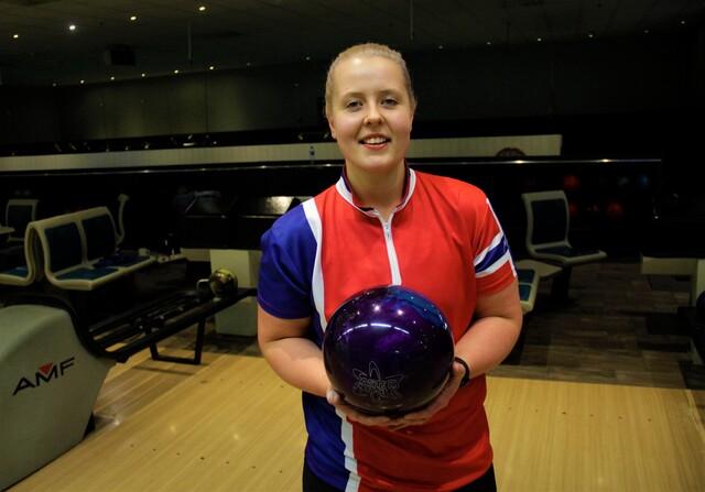 VANT: Andrea Eliassen Hansen vant NM i bowling.