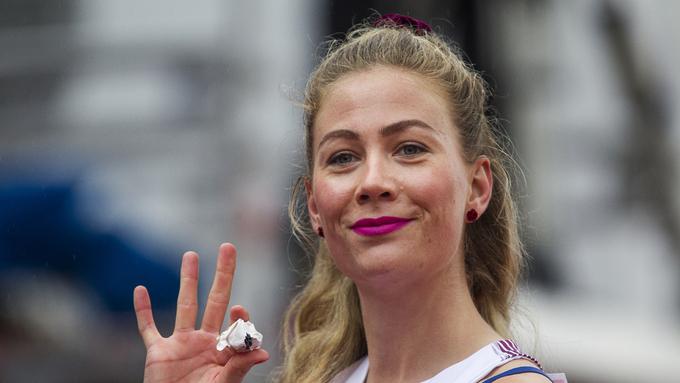 BRAKSTART: Isabelle Pedersen startet lørdag sesongen i Boston.