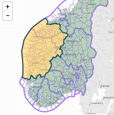 Flom- og skredvarselet gjelder store deler av vestlandet.