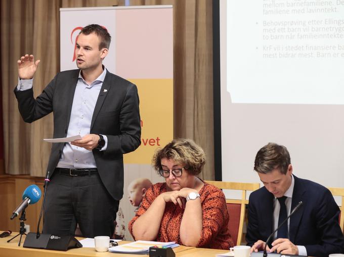 NYE KRAV: Kjell Ingolf Ropstad og Olaug Bollestad leder samtalene med den sittende regjeringen. Knut Arild Hareide avventer resultatet før han eventuelt går av.