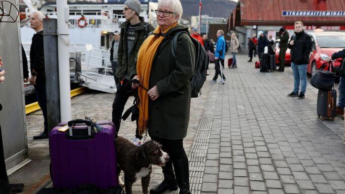 LANG REISE: Aud Våge Haugstad reiser med hunden Fasto (3).