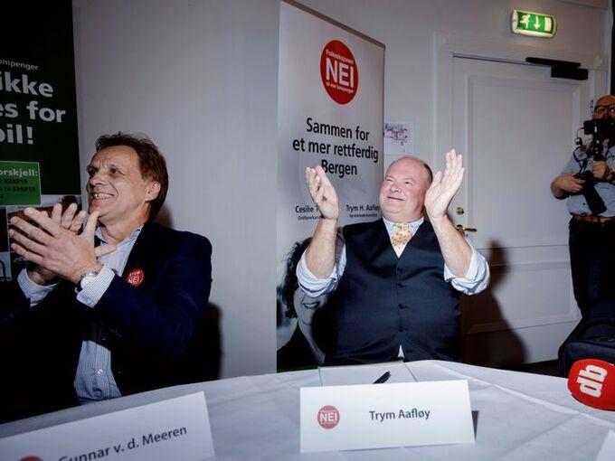 Gunnar van der Meeren og Trym Aafløy sitter i bystyret for Folkeaksjonen nei til mer bompenger i Bergen. Men sitter de da for FNB?