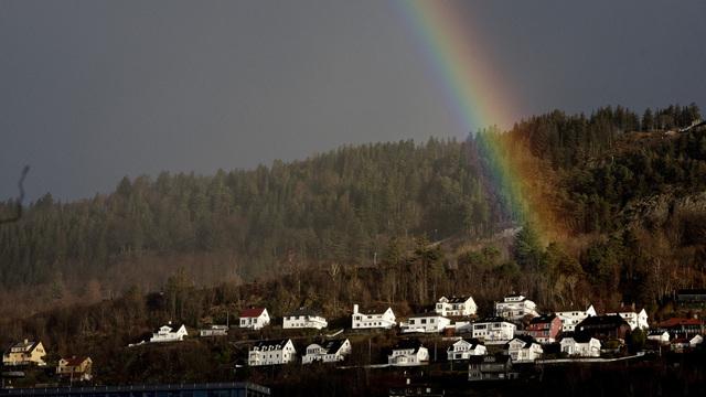 Fjellsiden i Bergen.