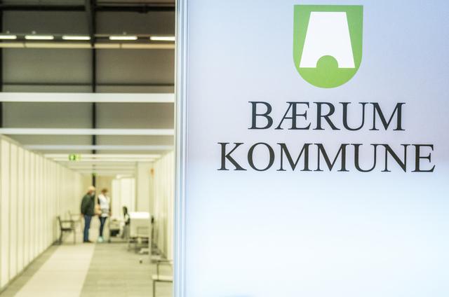 Blant de rundt 60 nye smittetilfellene i Bærum de siste to ukene, er det fem fullvaksinerte personer. Foto: Ole Berg-Rusten / NTB