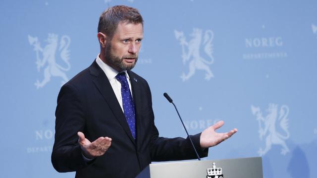 Bent Høie under pressekonferansen om koronasituasjonen i forrige uke.