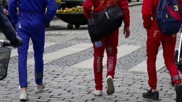 Russ i Karl Johans gate i Oslo. Natt til fredag er det meldt om russebråk flere steder i landet.