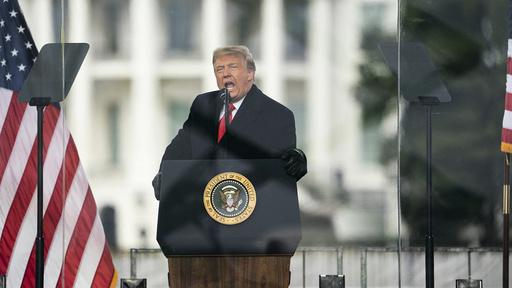 Facebook utestengte Donald Trump på ubestemt tid etter talen han holdt til tilhengere i Washington 6. januar.