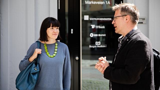 Styreleder i Noneda, Thomas Due Sivertsen, her fra samtale med kulturbyråd Katrine Nødtvedt (Mdg).