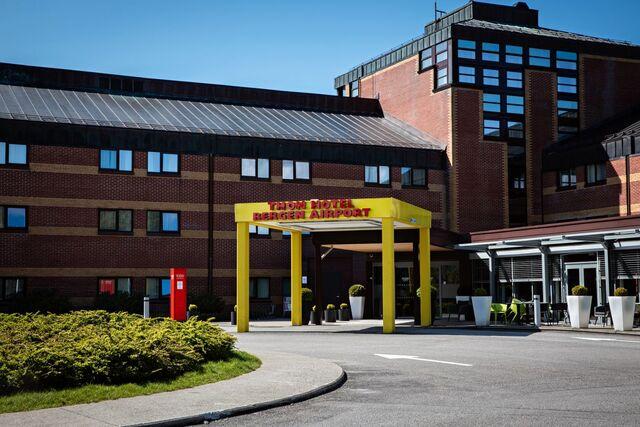 Karantenehotellet Thon Hotel Bergen Airport.