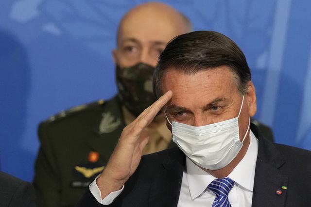 Brasils høyesterett beordrer etterforskning av president Jair Bolsonaro over hans angrep på landets valgsystem. Foto: Eraldo Peres / AP / NTB